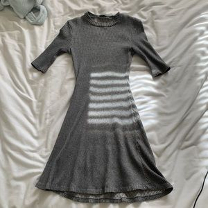 ZARA gray rubbed dress